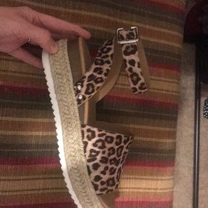 Soda Shoes - Cheetah Platform Sandals